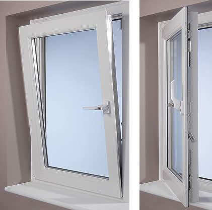 Attrayant Tilts At An Angle From The Top Or Opens Like A Casement Sideways. The Tilt  Position Is For Ventilation. Both Operations Take Place With A Single  Handle.